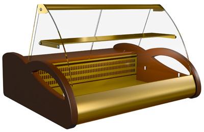 Настольная охлаждаемая витрина для кондитерки Полюс ВХС-1,0 Арго Люкс