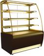 Узкая кондитерская витрина (вентилируемая) Carboma ВХСв-0,9Д