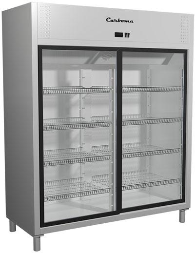 Холодильный шкаф с прозрачными дверцами Carboma R1400K