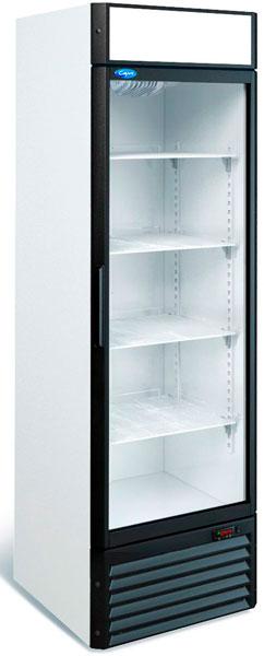 Холодильный шкаф с прозрачной дверью Марихолодмаш Капри 0,5 СК