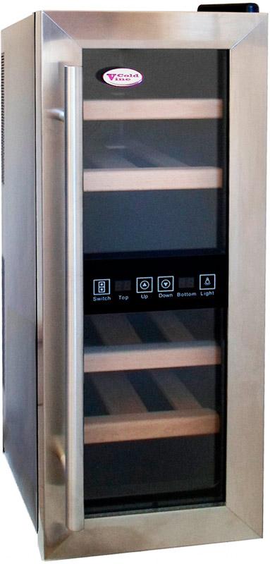 Настольный двухзонный винный шкаф Cold Vine JC-33D