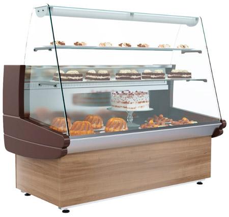Кондитерская холодильная витрина Полюс K85 SM 1,2-1 (ВХСд-1,2 ЭКО)