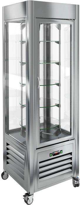 Кондитерская вертикальная витрина с вращением Hicold VRC 350 R