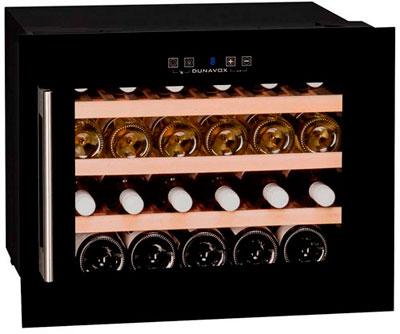 Встраиваемый винный шкаф Dunavox DX-24.56BBK(А) (петли справа)