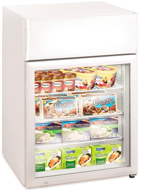 Маленький морозильный шкаф с прозрачной дверцей Tefcold UF100GCP