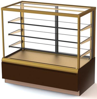 Кондитерская холодильная витрина Carboma ВХСв - 1,3д Cube Люкс