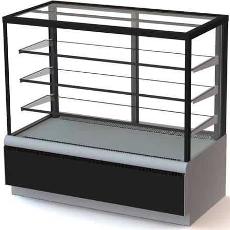 Кондитерская холодильная витрина Carboma ВХСв - 1,3д Cube Люкс ТЕХНО