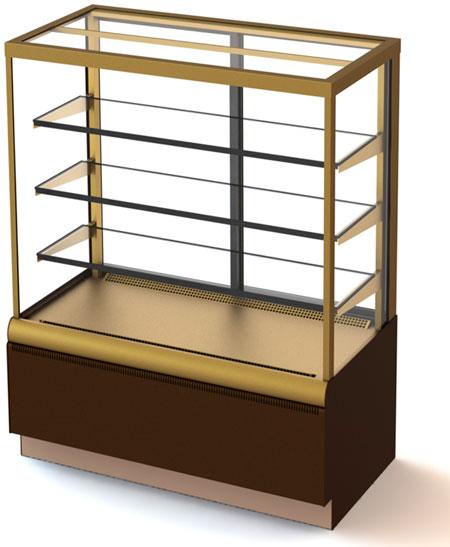 Кондитерская холодильная витрина Carboma ВХСв - 0,9д Cube