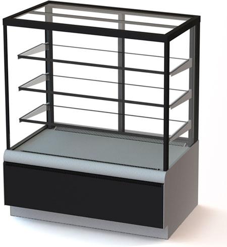 Кондитерская холодильная витрина Carboma ВХСв - 0,9д Cube ТЕХНО