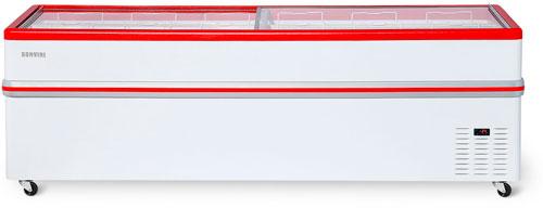Ларь-бонета Снеж Bonvini BF-2500 L красный