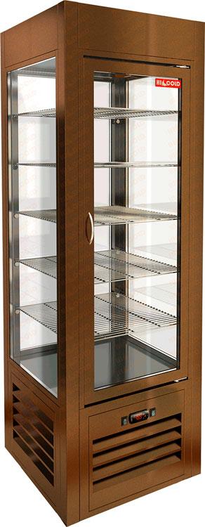 Вертикальная кондитерская витрина Hicold VRC 350 Sh Bronze