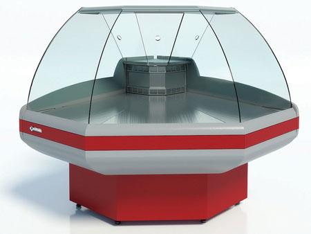 Угловая холодильная витрина Cryspi Gamma-2 OC 90 (угол внешний)