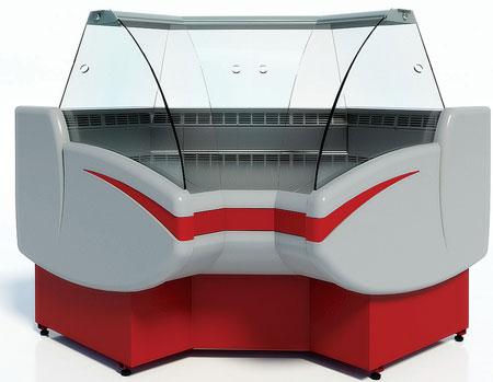 Угловая холодильная витрина Cryspi Gamma-2 IC 90 (угол внутренний)
