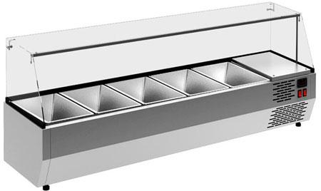 Настольная холодильная витрина Carboma VT2v-G