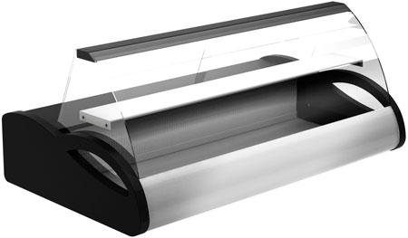 Настольная витрина Полюс A87 SM 1,5-1 (black&steel)