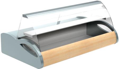 Настольная витрина Полюс A87 SM 1,5-1 (grеy&wood)