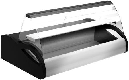 Настольная витрина Полюс A87 SV 1,0-1 (black&steel)