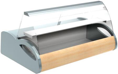 Настольная витрина Полюс A87 SV 1,0-1 (grеy&wood)