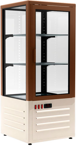 Холодильный шкаф-витрина Carboma D4 VM 120-1 brown / beige
