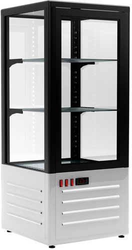 Холодильный шкаф-витрина Carboma D4 VM 120-1 Black / white