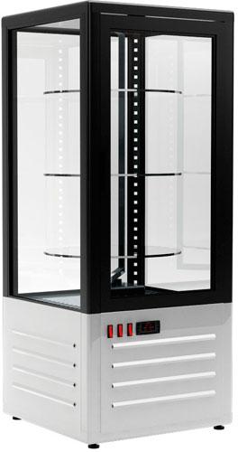Холодильный шкаф-витрина с вращающимися полками Carboma D4 VM 120-2 Black / white