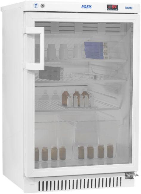 Фармацевтический холодильник Pozis ХФ-140-1 стекло