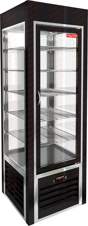 Вертикальная кондитерская витрина Hicold VRC 350 Sh Black FR