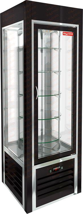 Вертикальная кондитерская витрина Hicold VRC 350 R Sh Black FR