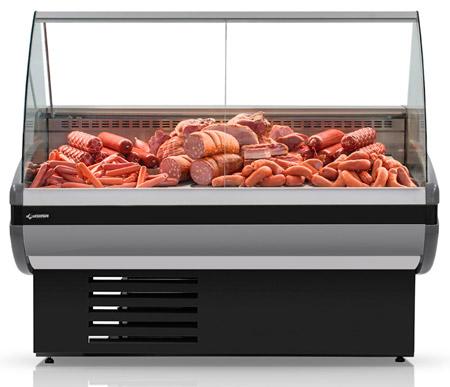 Холодильная витрина Cryspi Gamma-2 1200 (RAL 7016)