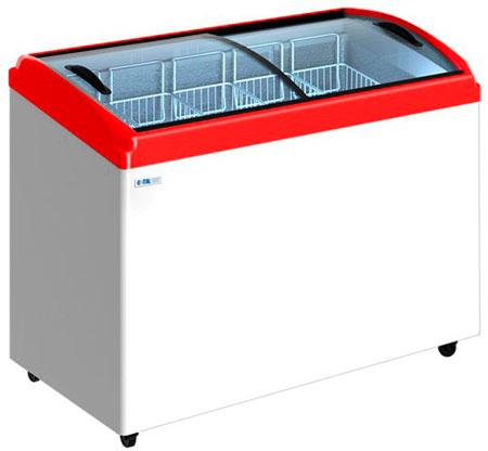 Морозильный ларь с гнутыми стеклянными крышками Italfrost CF400C