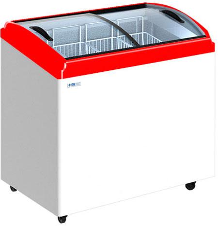 Морозильный ларь с гнутыми стеклянными крышками Italfrost CF300C