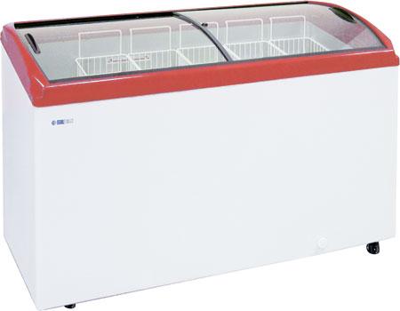 Морозильный ларь с гнутыми стеклянными крышками Italfrost CF500C