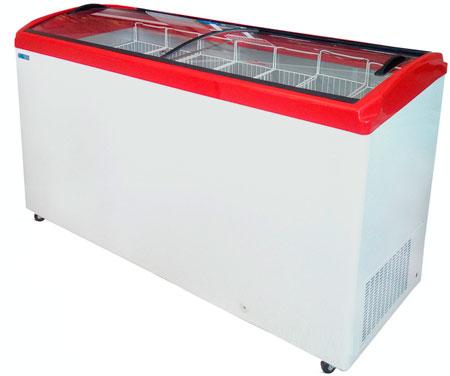 Морозильный ларь с гнутыми стеклянными крышками Italfrost CF600C