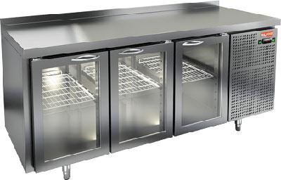 Холодильный стол со стеклянными дверцами Hicold GNG 111/HT