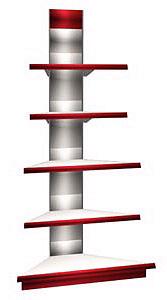 Универсальный внешний угловой торговый стеллаж   Арлекс НУ